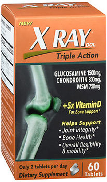 X Ray Dol Triple Action Tablets - 60 ct