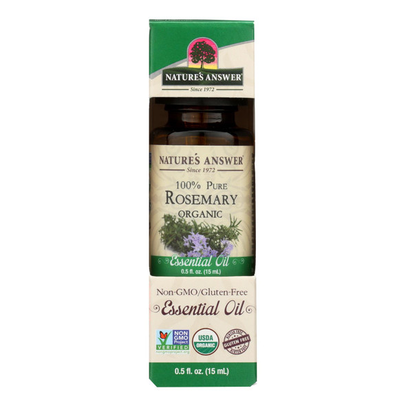 Natures Answer Essential Oil - Organic - Rosemary - .5 Oz