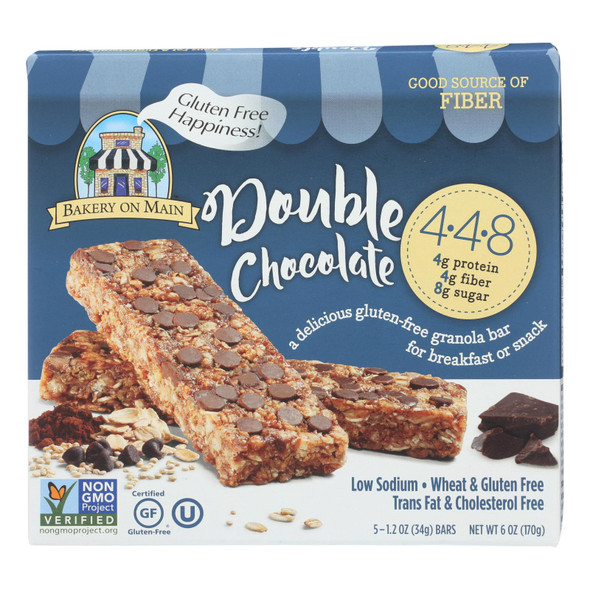 Bakery On Main Double Chocolate Granola Bars - Case Of 6 - 1.2 Oz.
