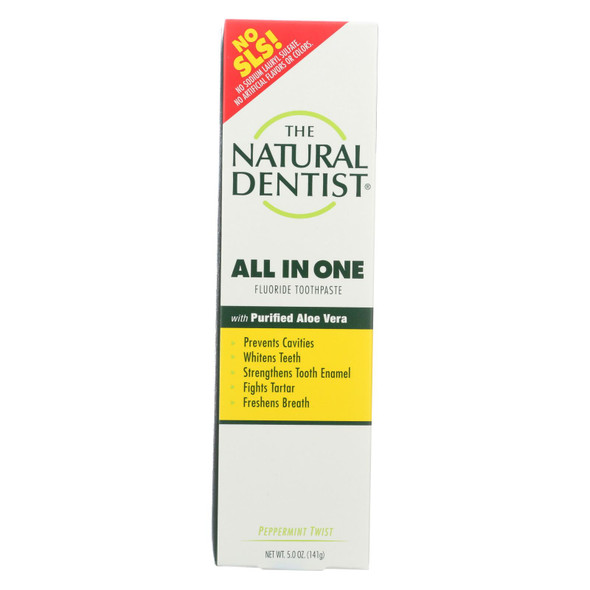 Natural Dentist Anti-cavity Toothpaste Original Peppermint Twist - 5 Oz