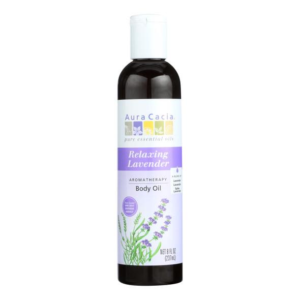 Aura Cacia Aromatherapy Body Oil Lavender Harvest - 8 Fl Oz