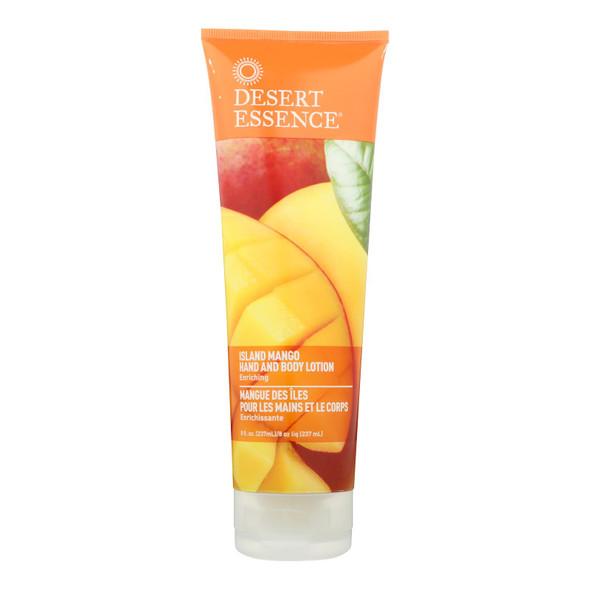 Desert Essence Hand And Body Lotion - Island Mango - 8 Fl Oz