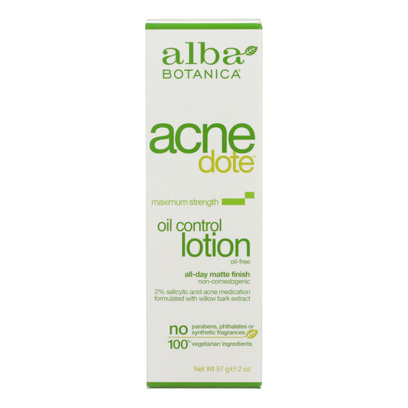 Alba Botanica Natural Acnedote Oil Control Lotion - 2 Fl Oz