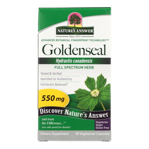 Nature's Answer Goldenseal Root - 50 Vegetarian Capsules