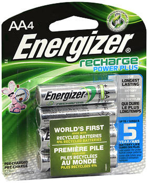 Energizer e2 Rechargeable Batteries AA - 4 pk