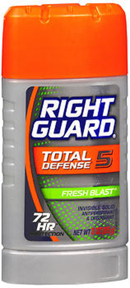 Right Guard Total Defense Power Stripe Anti-Perspirant Deodorant Invisible Solid Fresh Blast - 2.6 oz