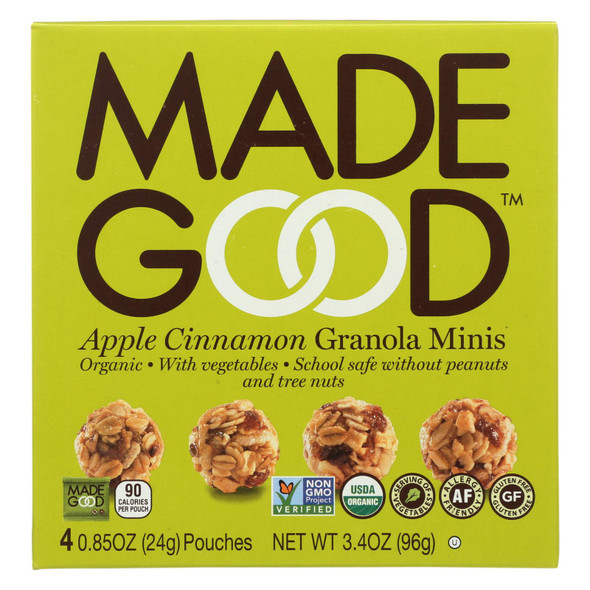 Made Good Granola Minis - Apple Cinnamon - Case Of 6 - 3.4 Oz.