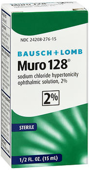 Bausch + Lomb Muro 128 Solution 2% -  .5 oz