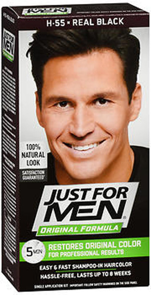 Just For Men Original Formula Haircolor Real Black H-55 - 1 ea.