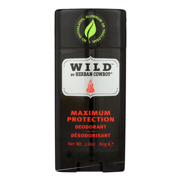 Herban Cowboy Deodorant Wild - 2.8 Oz