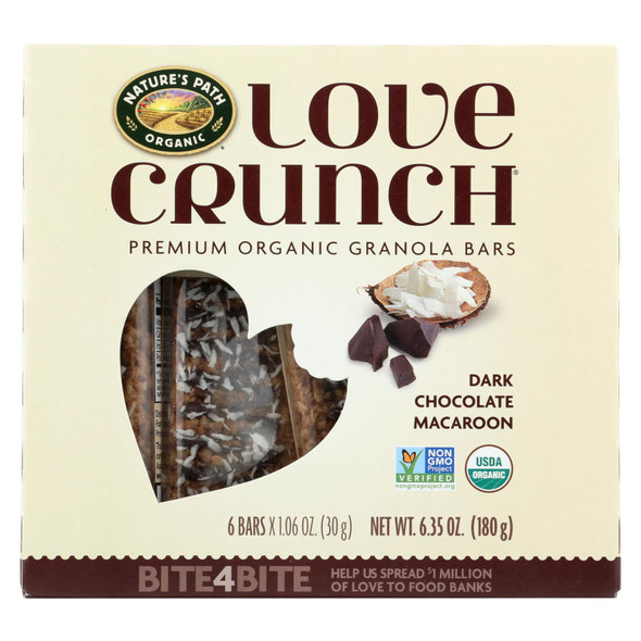 Nature's Path Granola Bar - Organic - Chocolate Macaroon - Case Of 12 - 6-1.06oz
