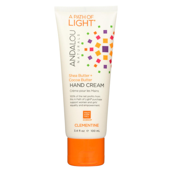 Andalou Naturals Hand Cream - A Force Of Nature Shea Butter Plus Sea Buckthorn - Clementine - 3.4 Oz