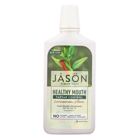 Jason Healthy Mouth Mouthwash Cinnamon Clove - 16 Fl Oz