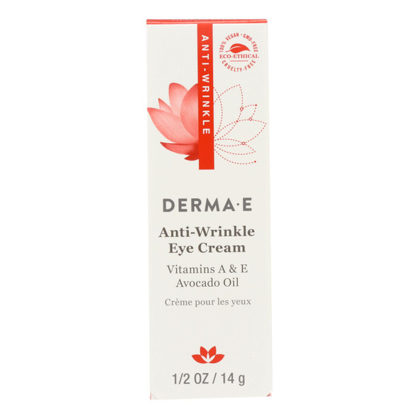 Derma E Anti - Wrinkle Vitamin A Eye Crme - 0.5 Oz.