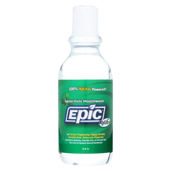 Epic Dental Spearmint Mouthwash - Xylitol Sweetened - 16 Oz