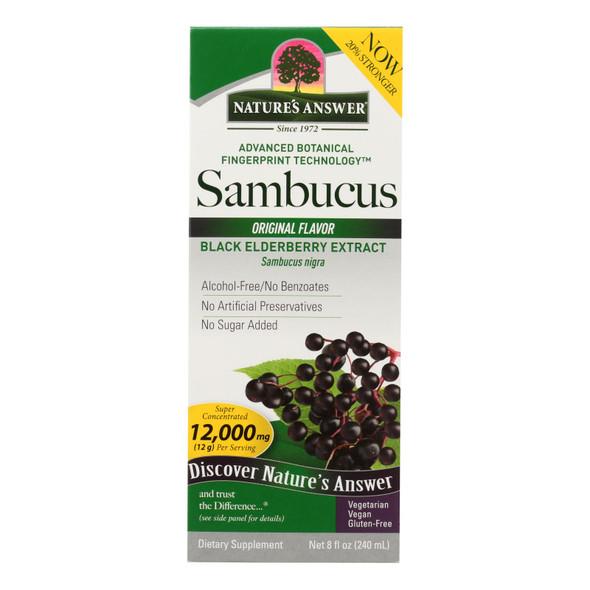 Nature's Answer Sambucus Nigra Black Elder Berry Extract - 8 Fl Oz