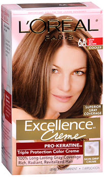 L'Oreal Excellence Creme - 6A Light Ash Brown (Cooler)