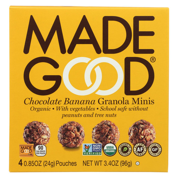 Made Good Granola Minis - Chocolate Banana - Case Of 6 - 3.4 Oz.