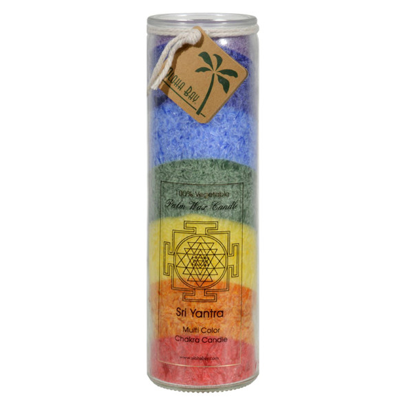 Aloha Bay Unscented Chakra Jar Rainbow Sri Yantra 7 Color - 1 Candle