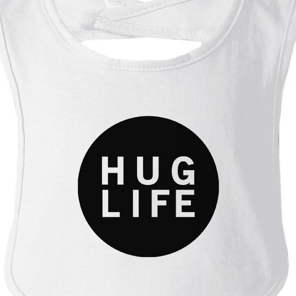 Hug Life White Baby Bib Infant Bibs Gifts Ideas For Baby Shower