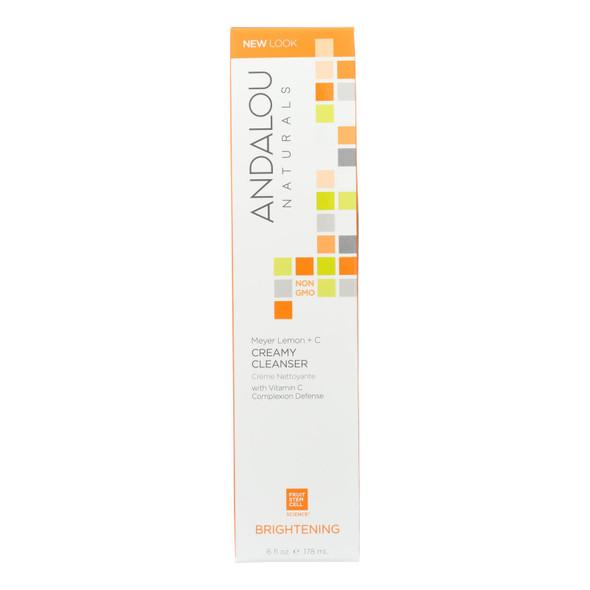 Andalou Naturals Creamy Cleanser For Combination Skin Meyer Lemon - 6 Fl Oz