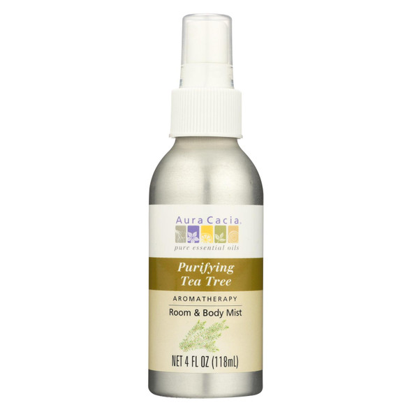 Aura Cacia Aroma Mist - Purifying Tea Tree - 4 Oz