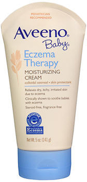 Aveeno Baby Eczema Therapy Moisturizing Cream, Fragrance Free - 5 oz