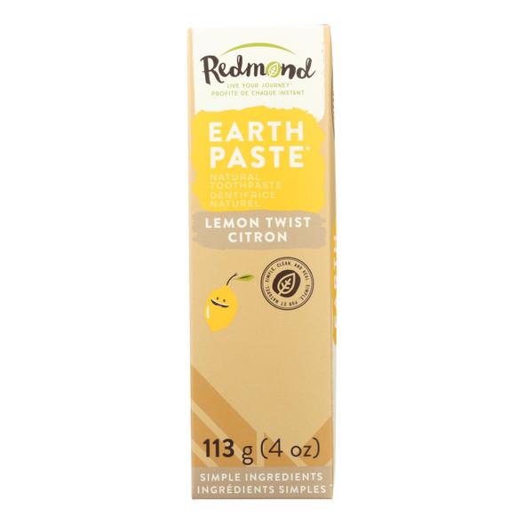 Redmond Trading Company Earthpaste - Lemon Twist - 4 Oz