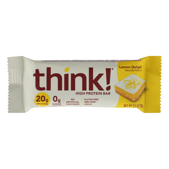 Think Products High Protein Bar - Lemon Delight - Case Of 10 - 2.1 Oz.