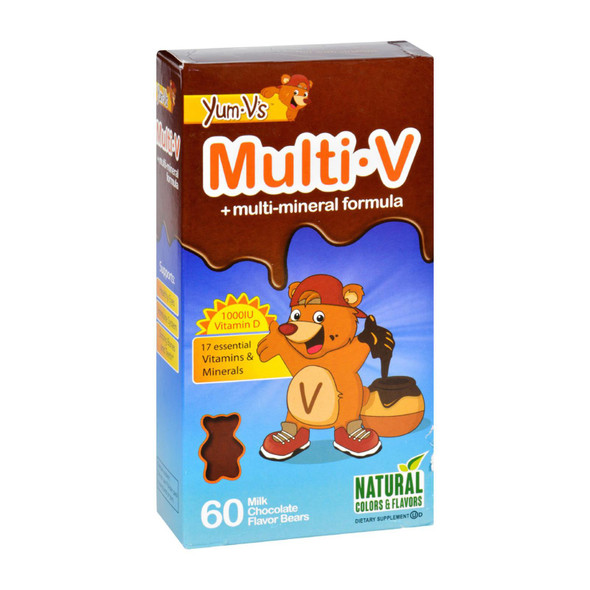 Yum V's Multi-v Plus Multi-mineral Formula Milk Chocolate - 60 Bears