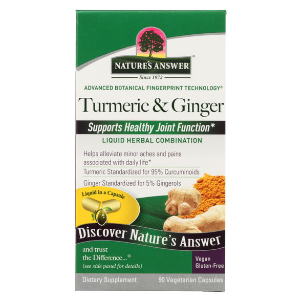 Nature's Answer Extractacaps Turmeric And Ginger - 90 Veggie Caps