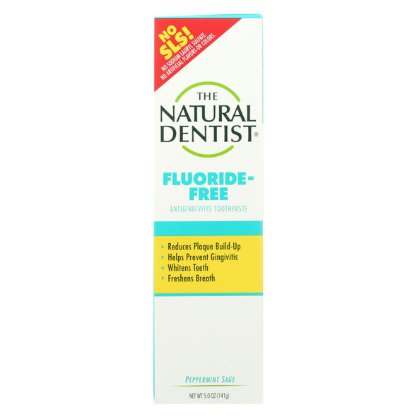 Natural Dentist Fluoride Free Toothpaste Pepperrmint Sage - 5 Oz