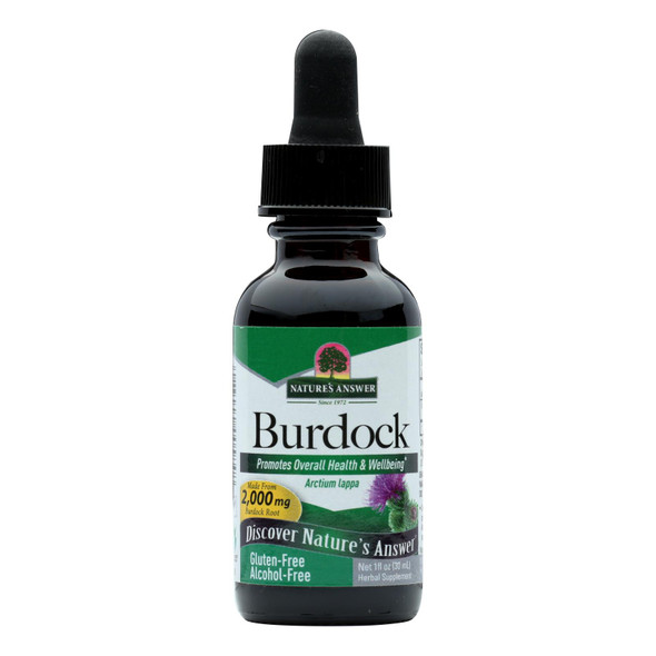 Nature's Answer Burdock Root Alcohol Free - 1 Fl Oz