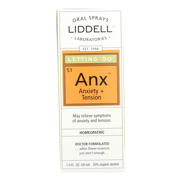 Liddell Homeopathic Letting Go Anxiety Spray - 1 Fl Oz