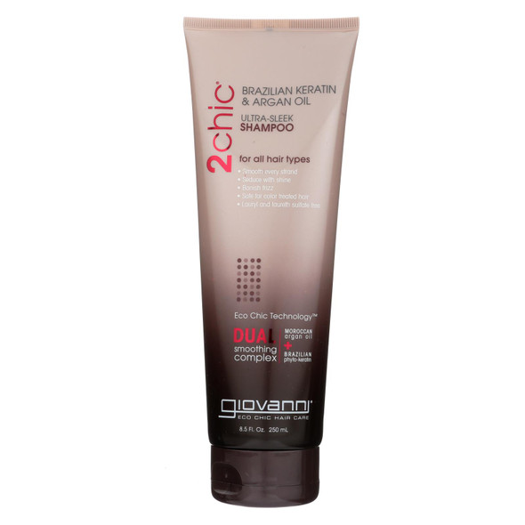 Giovanni 2chic Ultra-sleek Shampoo With Brazilian Keratin And Argan Oil - 8.5 Fl Oz