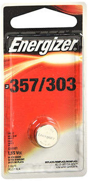 Energizer Zero Mercury Watch/Electronic Silver Oxide Battery 357/303 - 1 Each