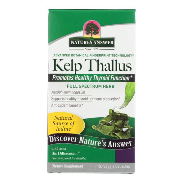 Nature's Answer Kelp Thallus - 100 Capsules
