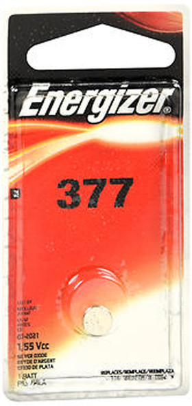 Energizer Zero Mercury Watch/Electronic Silver Oxide Battery 377 - 1 Each