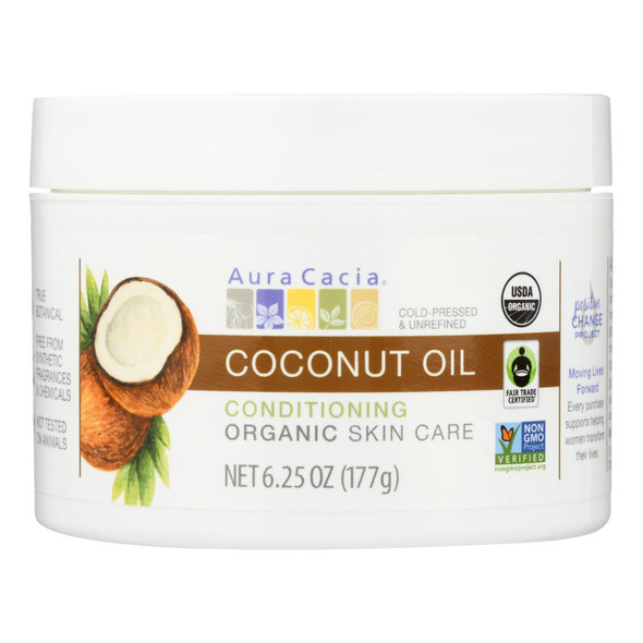 Aura Cacia Oil - Organic - Coconut - 6.25 Oz