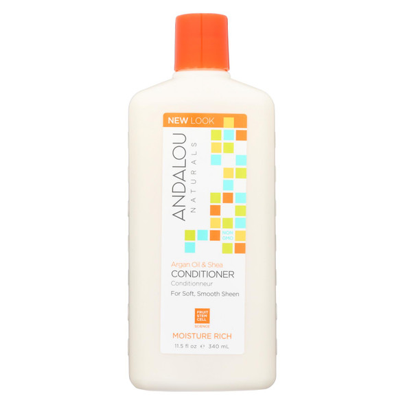 Andalou Naturals Moisture Rich Conditioner Argan And Sweet Orange - 11.5 Fl Oz