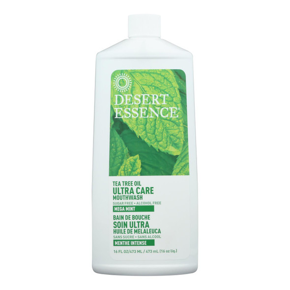 Desert Essence Mouthwash - Tea Tree U-care Mint - 16 Fl Oz