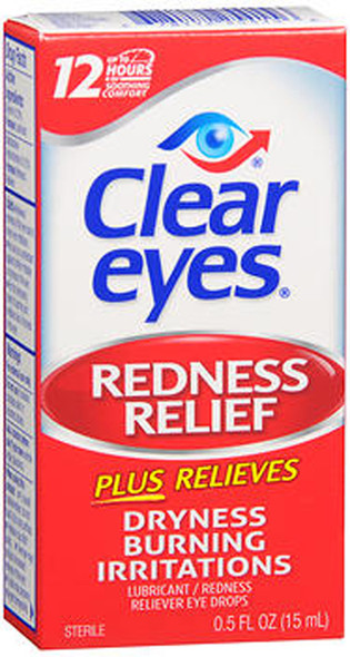 Clear Eyes Redness Relief Lubricant Eye Drops - 0.5 fl oz