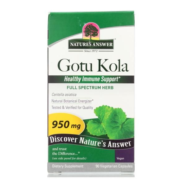 Nature's Answer Gotu-kola Herb - 950 Mg - 90 Caps