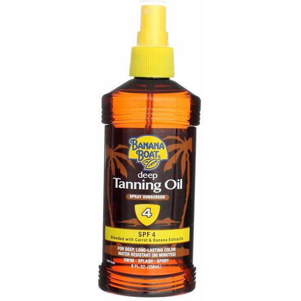 Banana Boat Deep Tanning Oil Spray Sunscreen SPF 4 - 8 oz