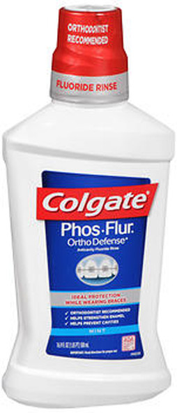 Colgate Phos-Flur Fluoride Solution Anti-Cavity Rinse Mint - 16 oz
