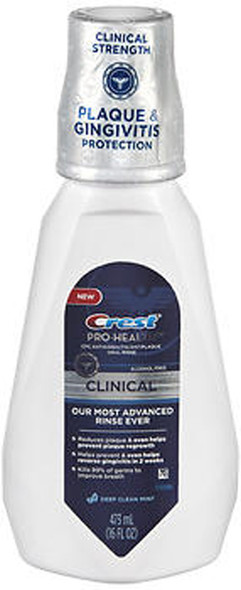 Crest Pro-Health Clinical Oral Rinse Deep Clean Mint - 16 oz