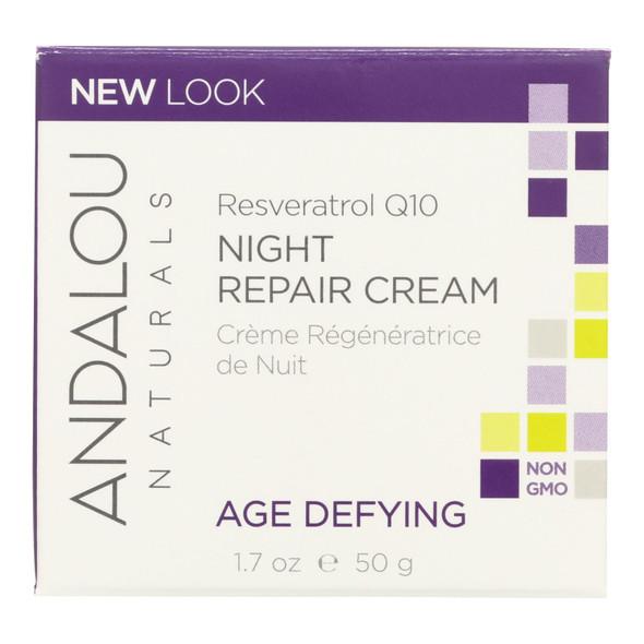 Andalou Naturals Resveratrol Q10 Night Repair Cream - 1.7 Fl Oz
