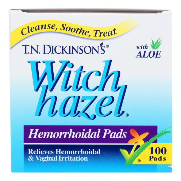 Dickinson Brands Hemorrhoidal Pads - 100 Pads