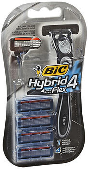 Bic Hybrid 4 Advance Razor - 1 handle, 4 cartridges