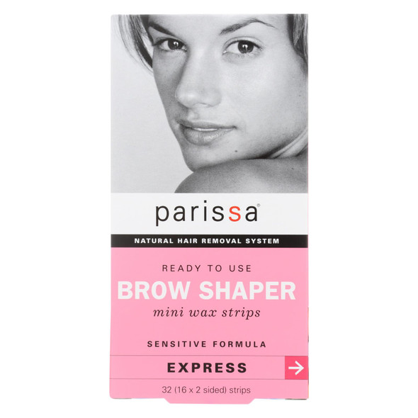 Parissa Natural Hair Removal System Brow Shaper - 32 Strips